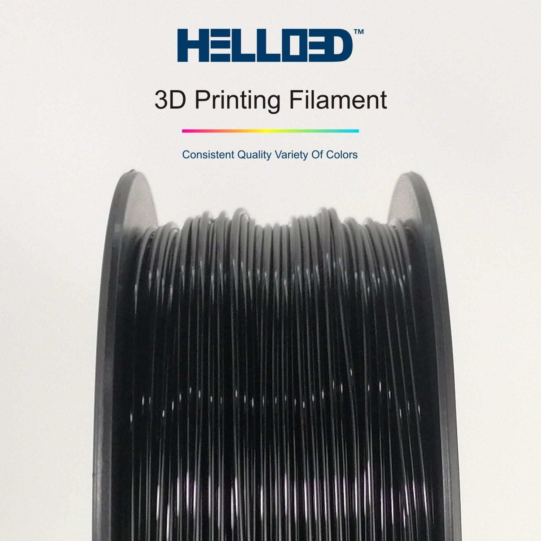 HELLO3D 3D Printer Filament - PLA - 1.75mm - Black - 1Kg