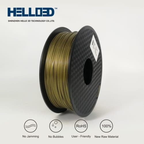 HELLO3D 3D Printer Filament - PLA - 1.75mm - Bronze - 1Kg