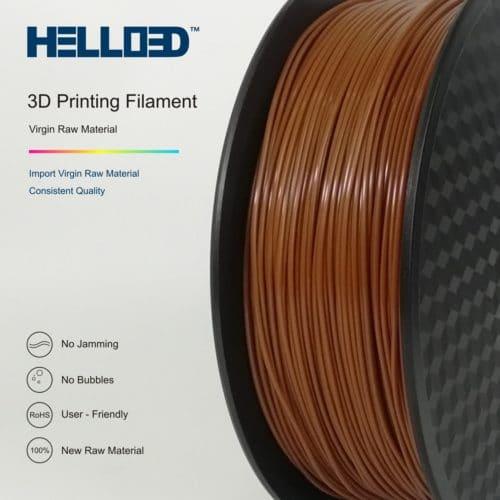 HELLO3D 3D Printer Filament - PLA - 1.75mm - Brown - 1Kg
