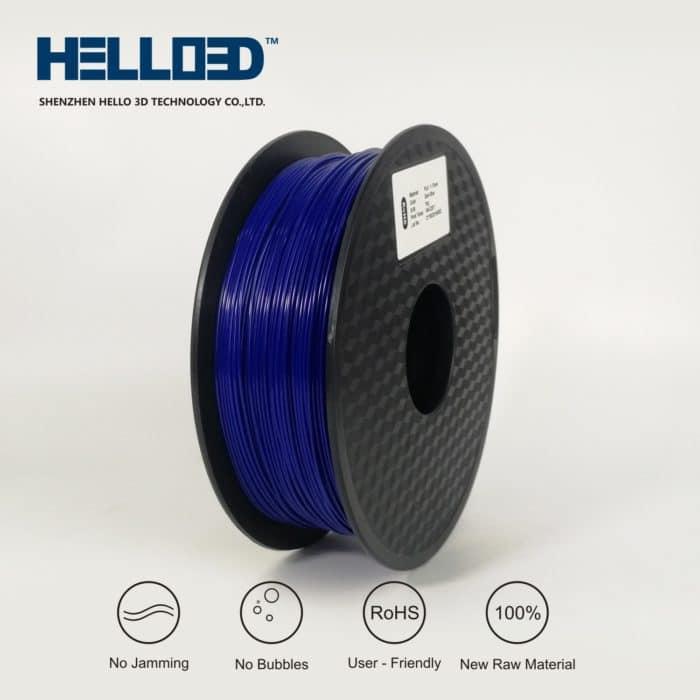 HELLO3D 3D Printer Filament - PLA - 1.75mm - Dark Blue - 1Kg