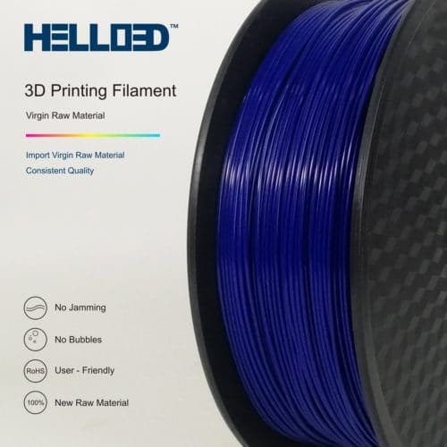 HELLO3D 3D Printer Filament - PLA - 1.75mm - Dark Blue - 1Kg