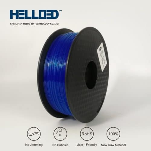 HELLO3D 3D Printer Filament - PLA - 1.75mm - Flourescent Blue - 1Kg