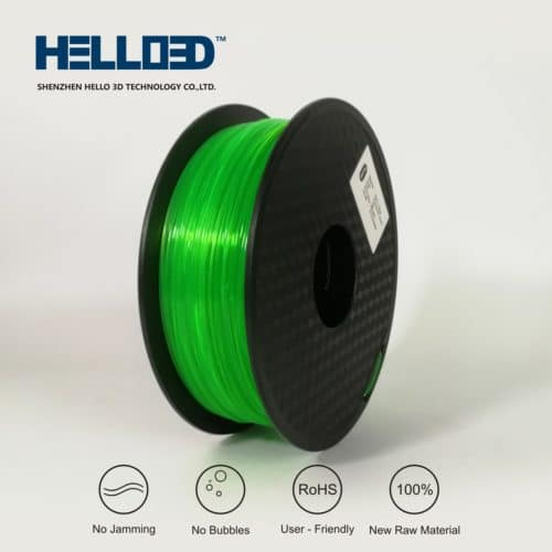 HELLO3D 3D Printer Filament - PLA - 1.75mm - Flourescent Green - 1Kg