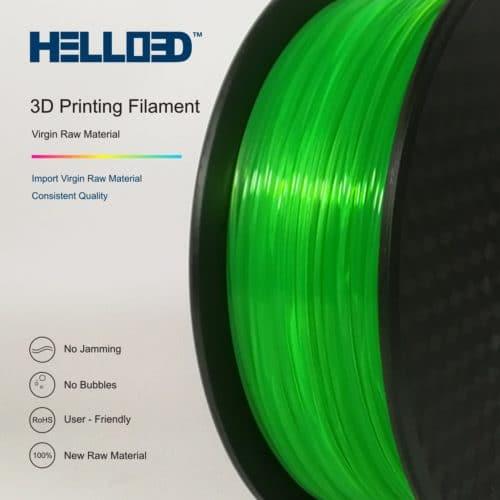 HELLO3D 3D Printer Filament - PLA - 1.75mm - Flourescent Green - 1Kg