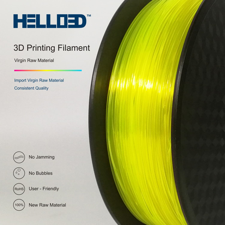 HELLO3D 3D Printer Filament - PLA - 1.75mm - Flourescent Yellow - 1Kg