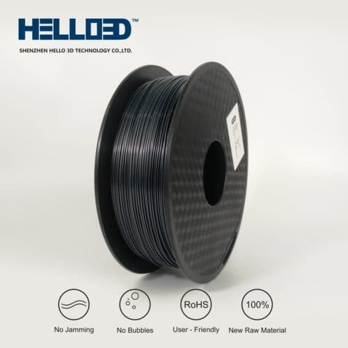 HELLO3D 3D Printer Filament - PLA - 1.75mm - Graphite - 1Kg