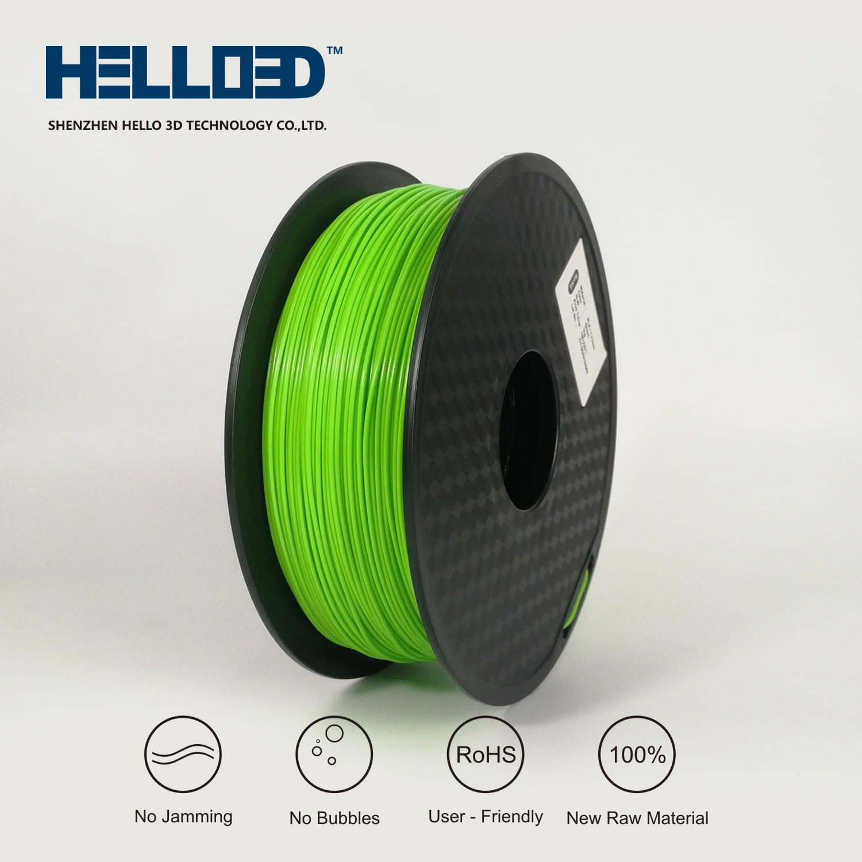 HELLO3D 3D Printer Filament - PLA - 1.75mm - Green - 1Kg