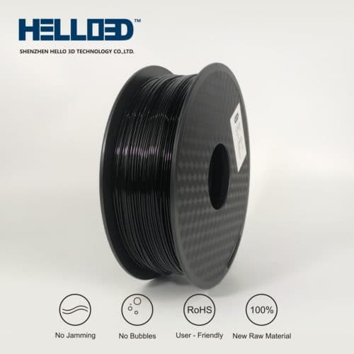 HELLO3D 3D Printer Filament - HIPS - 1.75mm - Black - 1Kg