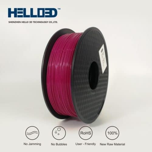 HELLO3D 3D Printer Filament - PLA - 1.75mm - Maroon - 1Kg