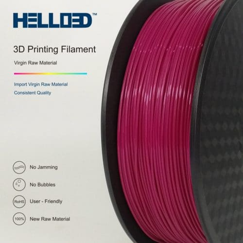 HELLO3D 3D Printer Filament - 1.75mm - Maroon - 1Kg