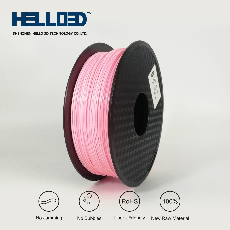 HELLO3D 3D Printer Filament - PLA - 1.75mm - Pink - 1Kg