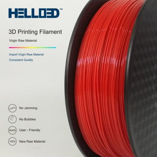 HELLO3D 3D Printer Filament - PLA - 1.75mm - Red - 1Kg