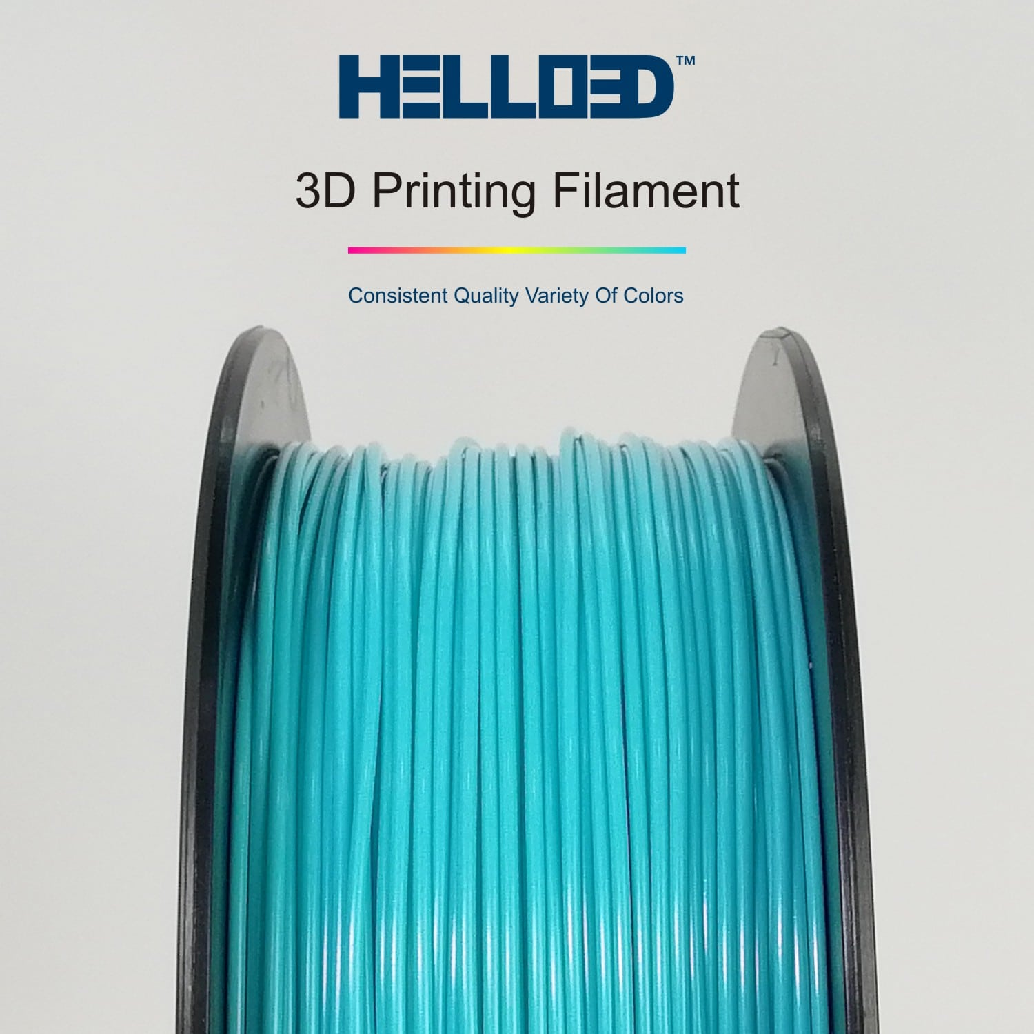 HELLO3D 3D Printer Filament - 1.75mm - Sky Blue - 1Kg