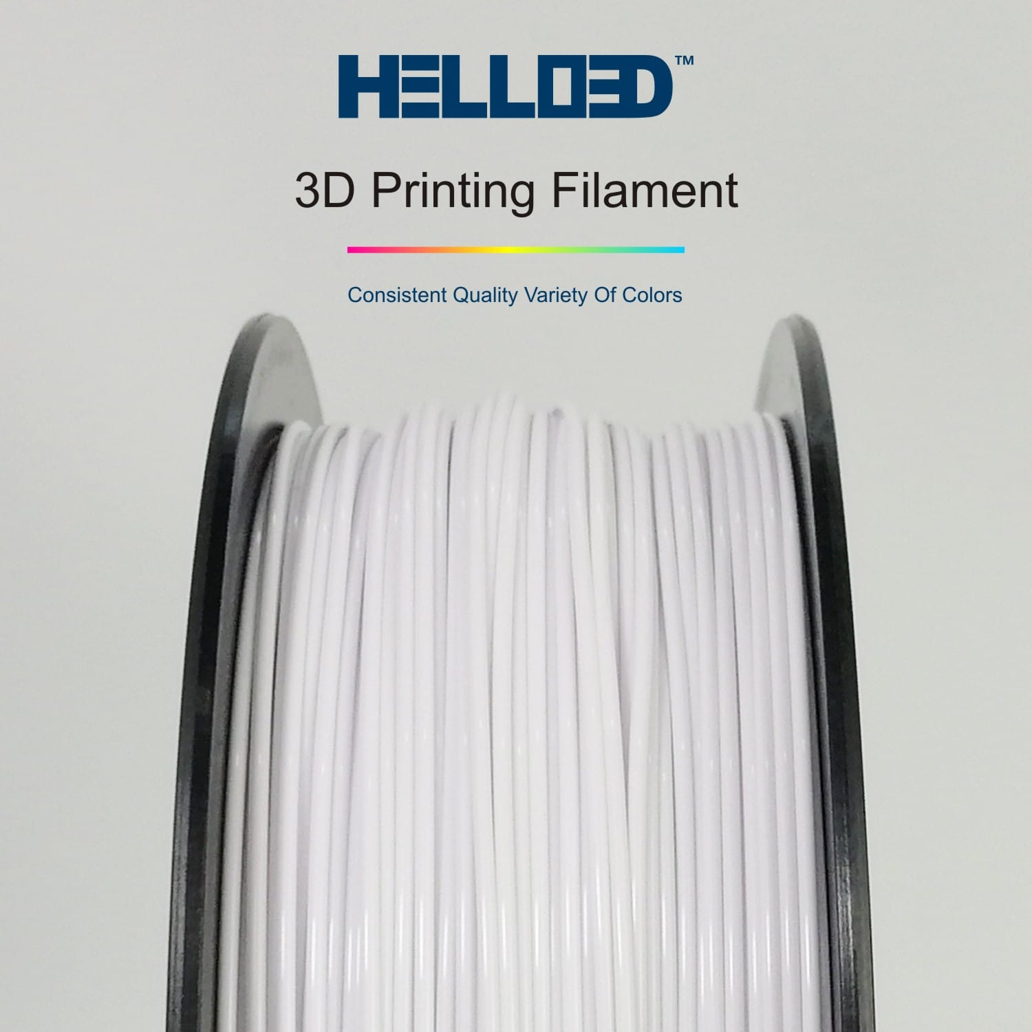 HELLO3D 3D Printer Filament - PLA - 1.75mm - White 01 - 1Kg