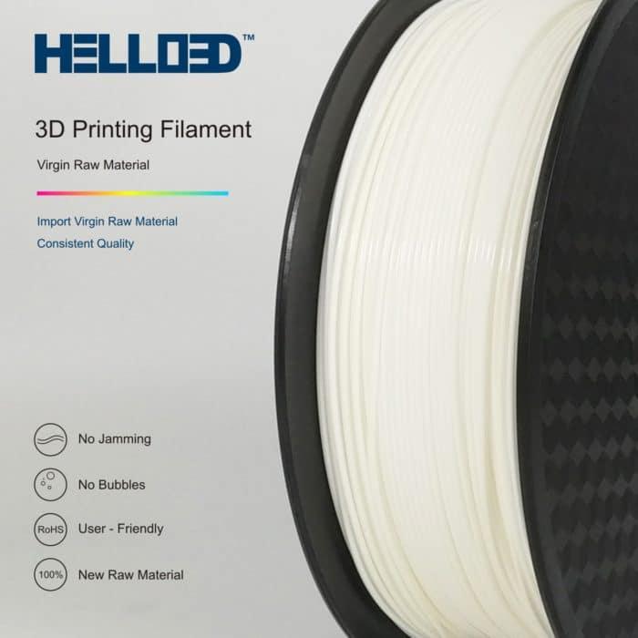 HELLO3D 3D Printer Filament - PLA - 1.75mm - White 02 - 1Kg