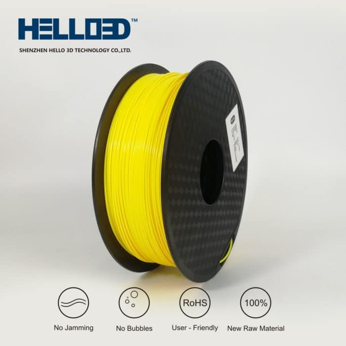 Hello3D 3D Printer Filament – Flexible (TPU) Yellow – 1.75mm – 0.8Kg
