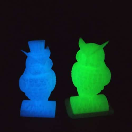 HELLO3D 3D Printer Filament - PLA - 1.75mm - Luminous Blue - 1Kg