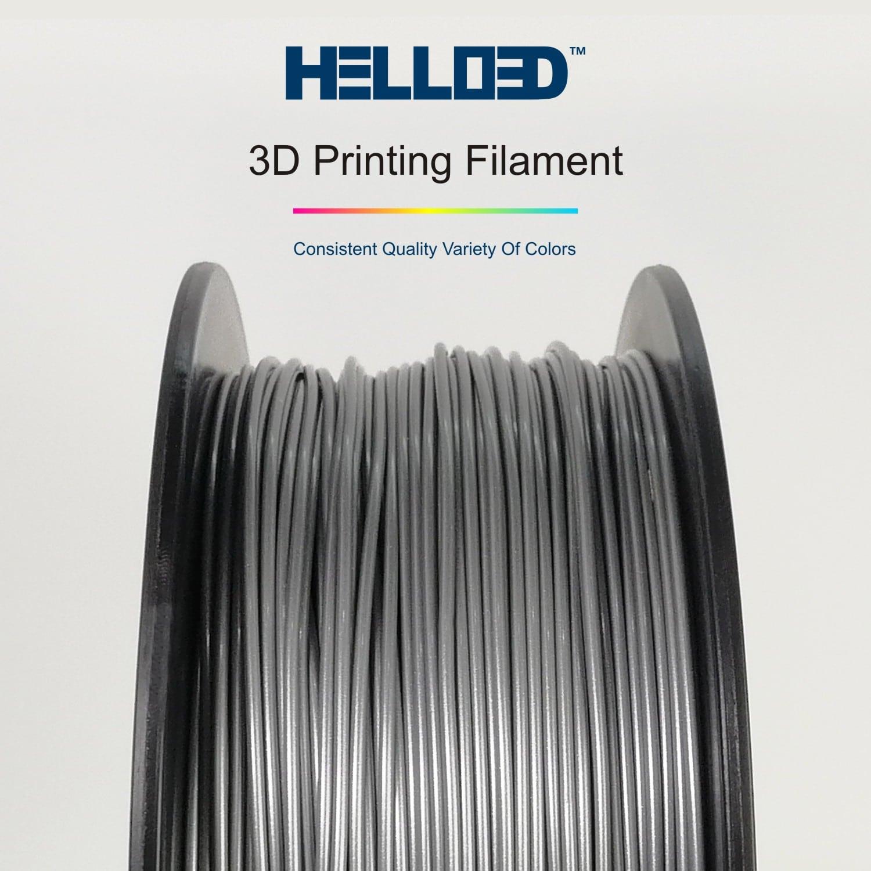 HELLO3D 3D Printer Filament - PLA - 1.75mm - Aluminium - 1Kg