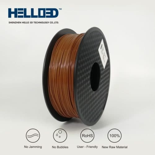 HELLO3D 3D Printer Filament - ABS - 1.75mm - Brown - 1Kg
