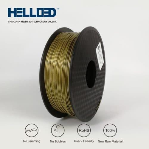 HELLO3D 3D Printer Filament - PLA - 1.75mm - Frosted Bronze - 1Kg