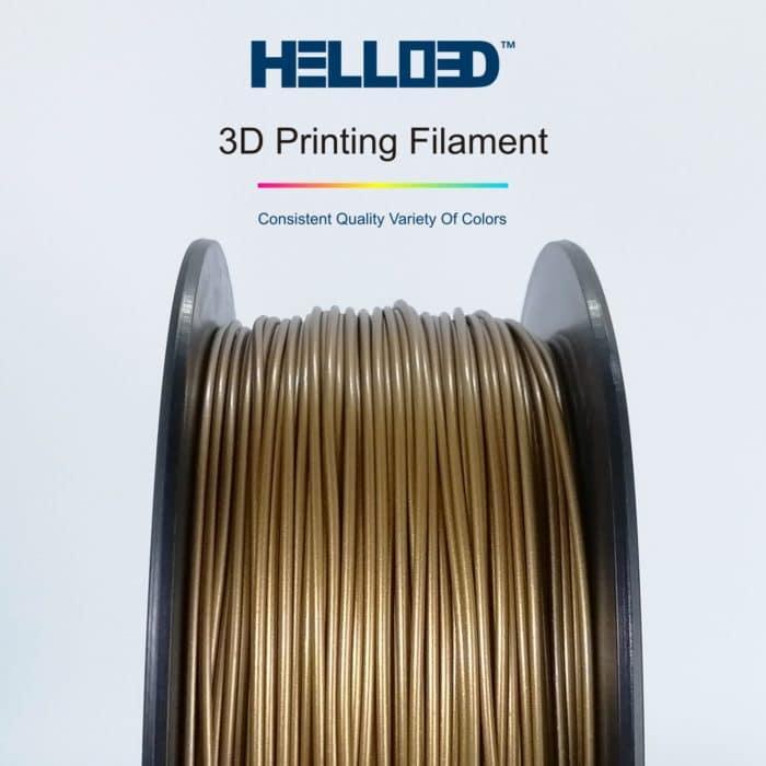 HELLO3D 3D Printer Filament - PLA - 1.75mm - Frosted Copper - 1Kg