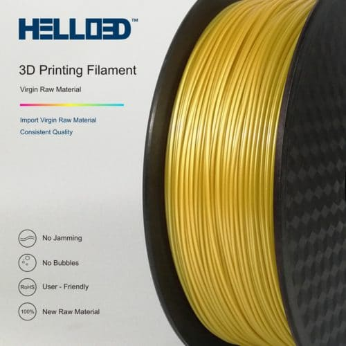 HELLO3D 3D Printer Filament - 1.75mm - Gold - 1Kg