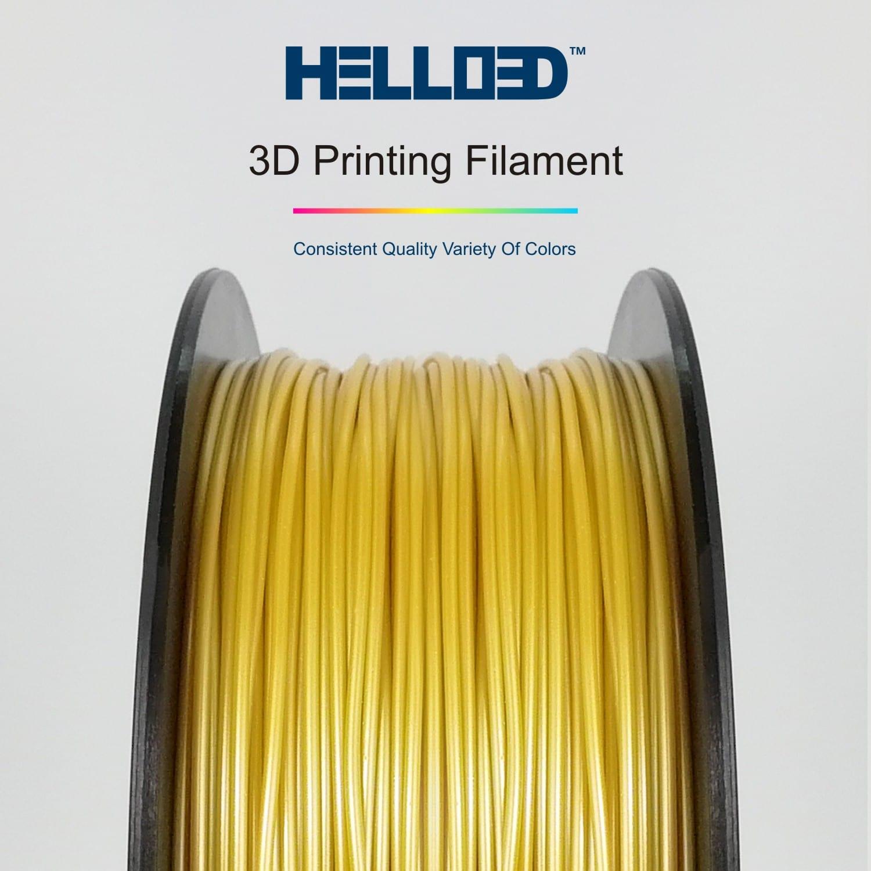 HELLO3D 3D Printer Filament - PLA - 1.75mm - Gold - 1Kg