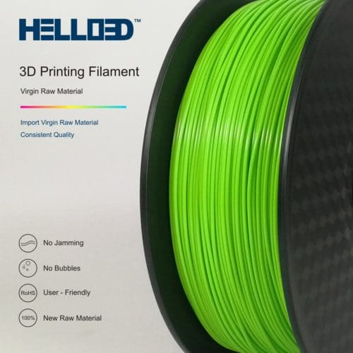 HELLO3D 3D Printer Filament - ABS - 1.75mm - Green - 1Kg