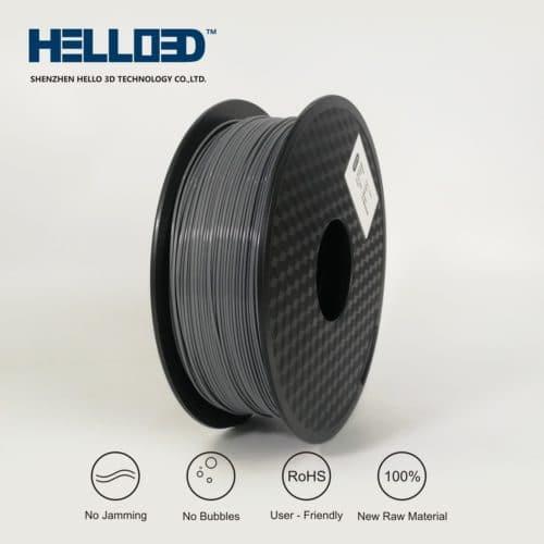HELLO3D 3D Printer Filament - PLA - 1.75mm - Grey - 1Kg