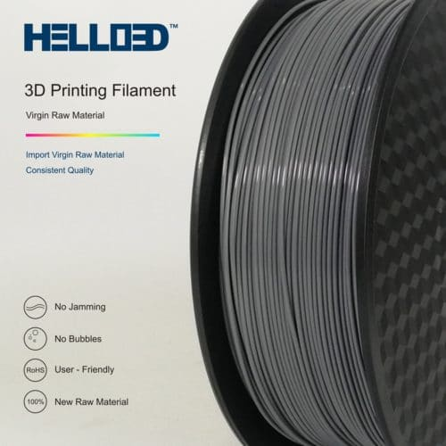 HELLO3D 3D Printer Filament - ABS - 1.75mm - Grey - 1Kg