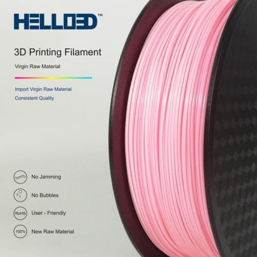 HELLO3D 3D Printer Filament - HIPS - 1.75mm - Pink - 1Kg