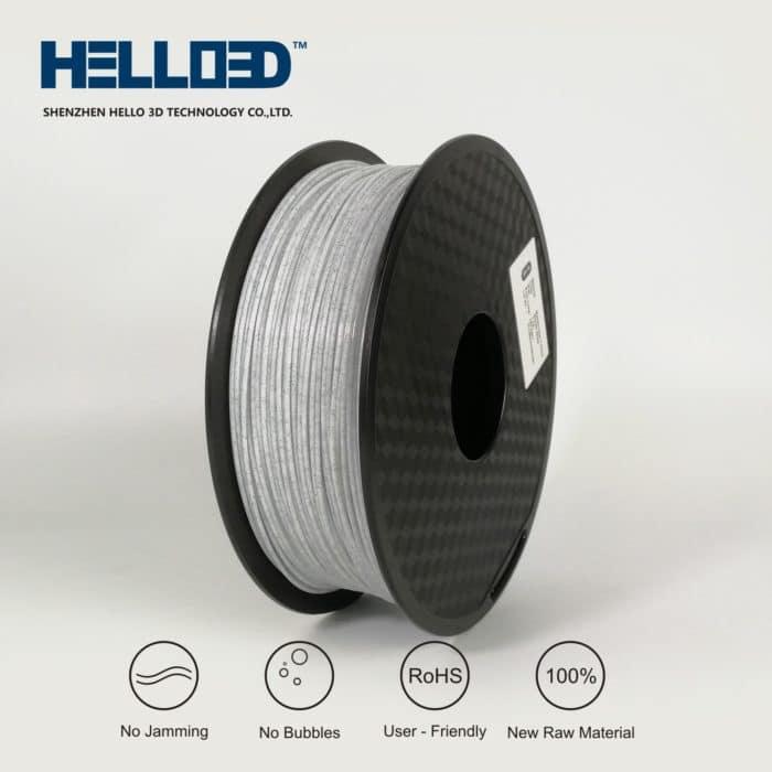 HELLO3D 3D Printer Filament - PLA - 1.75mm - Marble White - 1Kg