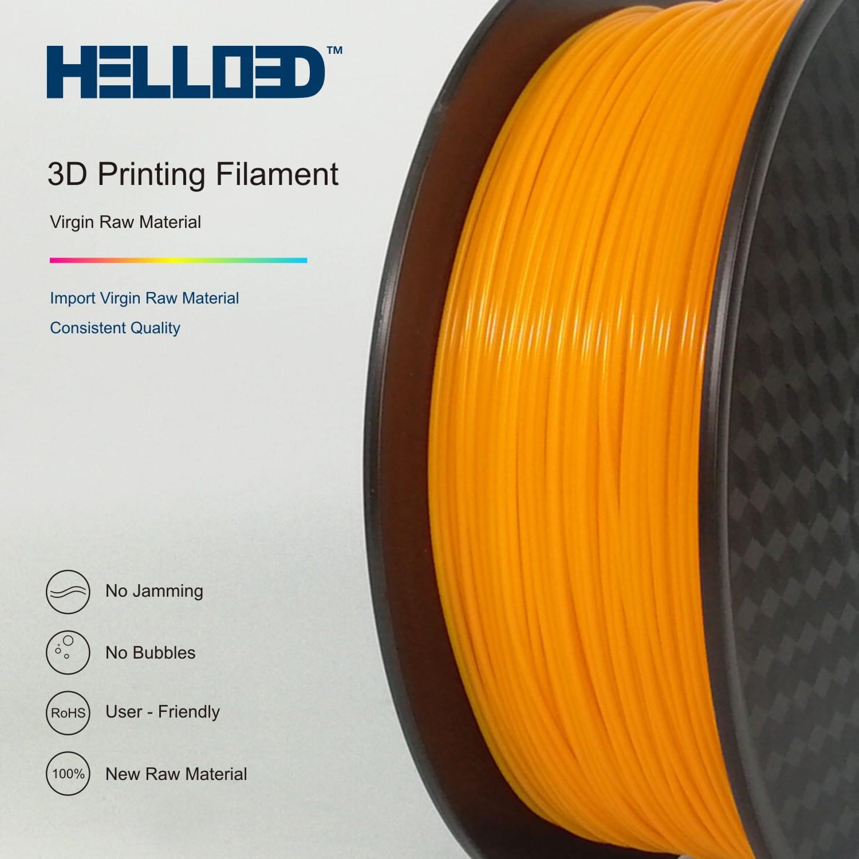 HELLO3D 3D Printer Filament - PLA - 1.75mm - Orange - 1Kg