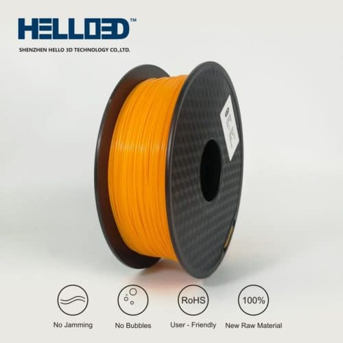 HELLO3D 3D Printer Filament - ABS - 1.75mm - Orange - 1Kg