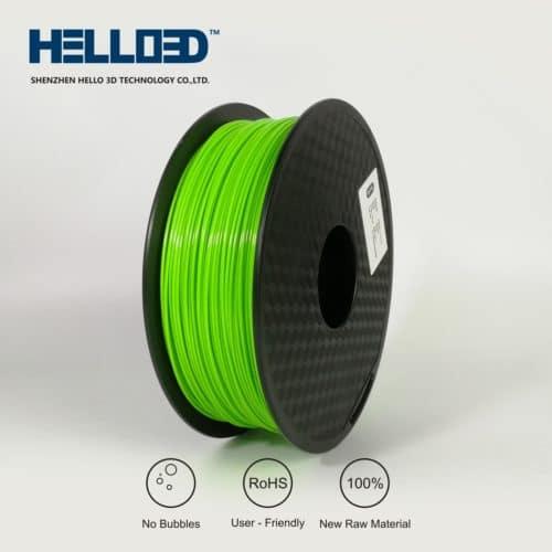 HELLO3D 3D Printer Filament - PETG - 1.75mm - Green - 1Kg