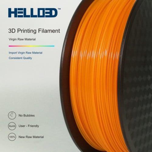 HELLO3D 3D Printer Filament - PETG - 1.75mm - Orange - 1Kg