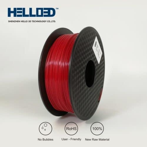HELLO3D 3D Printer Filament - PETG - 1.75mm - Red - 1Kg
