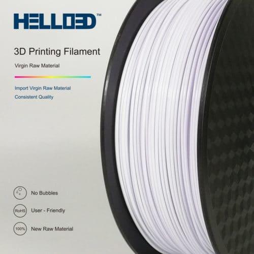 HELLO3D 3D Printer Filament - PETG - 1.75mm - White - 1Kg