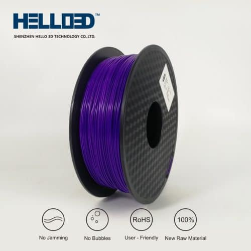 HELLO3D 3D Printer Filament - PLA - 1.75mm - Purple - 1Kg