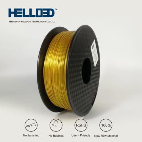 HELLO3D 3D Printer Filament - PLA - 1.75mm - Real Gold Like - 1Kg