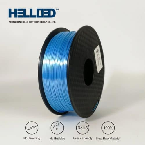 HELLO3D 3D Printer Filament - PLA - 1.75mm - Silk Like Sky Blue - 1Kg