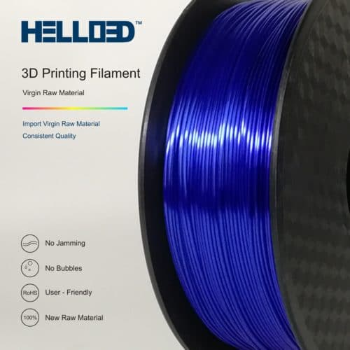 HELLO3D 3D Printer Filament - PLA - 1.75mm - Silk Like Dark Blue - 1Kg