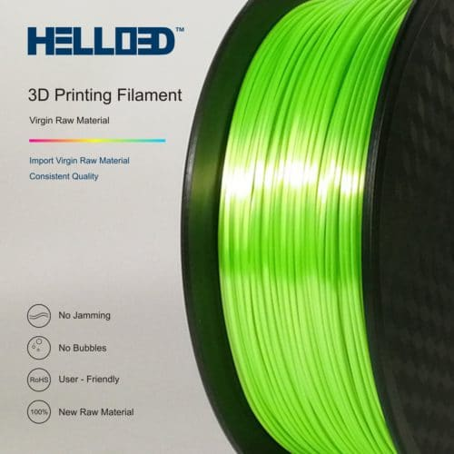 HELLO3D 3D Printer Filament - PLA - 1.75mm - Silk Like Green - 1Kg