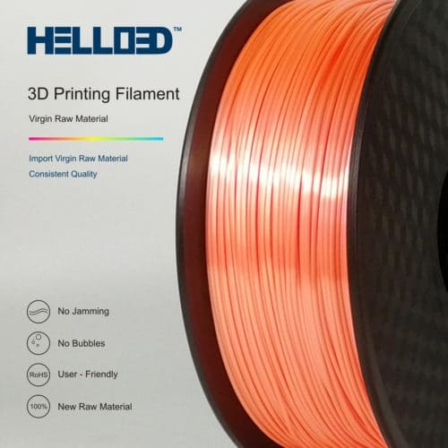 HELLO3D 3D Printer Filament - PLA - 1.75mm - Silk Like Orange - 1Kg
