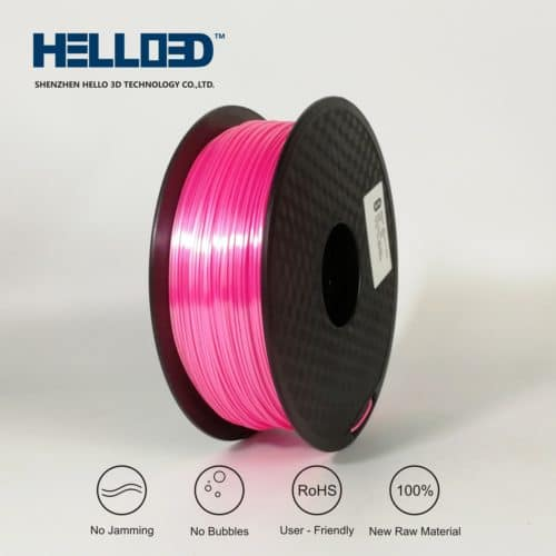 HELLO3D 3D Printer Filament - PLA - 1.75mm - Silk Like Pink - 1Kg