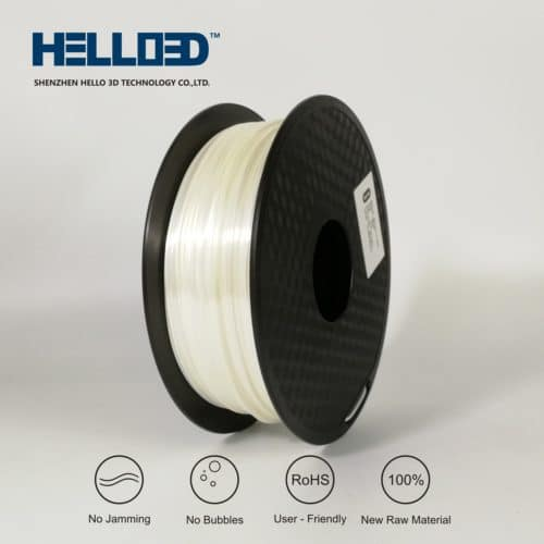 HELLO3D 3D Printer Filament - PLA - 1.75mm - Silk Like White - 1Kg