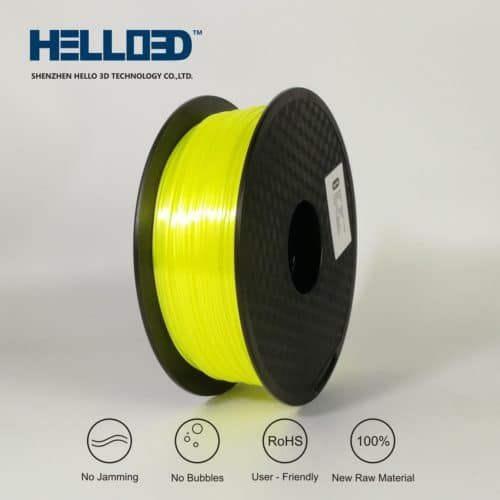 HELLO3D 3D Printer Filament - PLA - 1.75mm - Silk Like Yellow - 1Kg