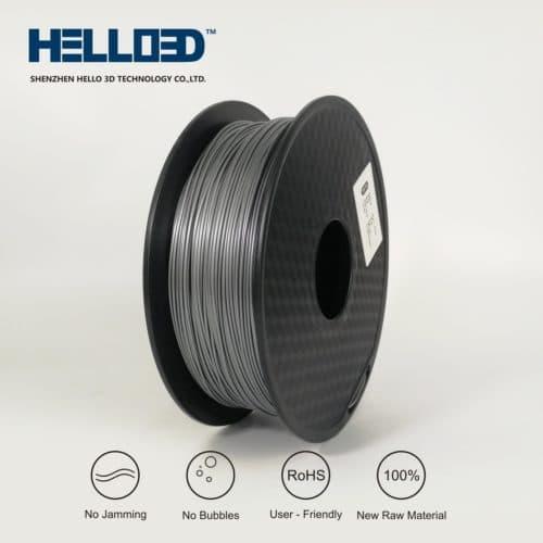 HELLO3D 3D Printer Filament - HIPS - 1.75mm - Silver - 1Kg