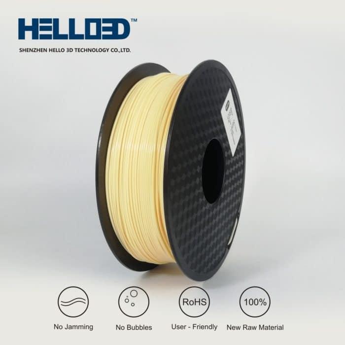 HELLO3D 3D Printer Filament - PLA - 1.75mm - Skin - 1Kg