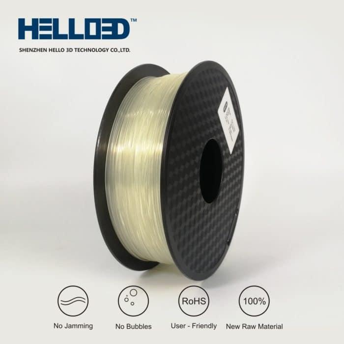 HELLO3D 3D Printer Filament - 1.75mm - Transparent - 1Kg